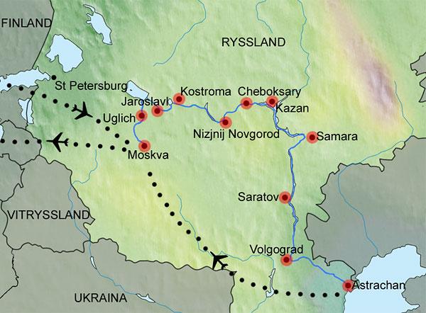 samara karta resor, kryssning Moskva Astrachan, Volga, Volgograd, Rysslandsresa samara karta
