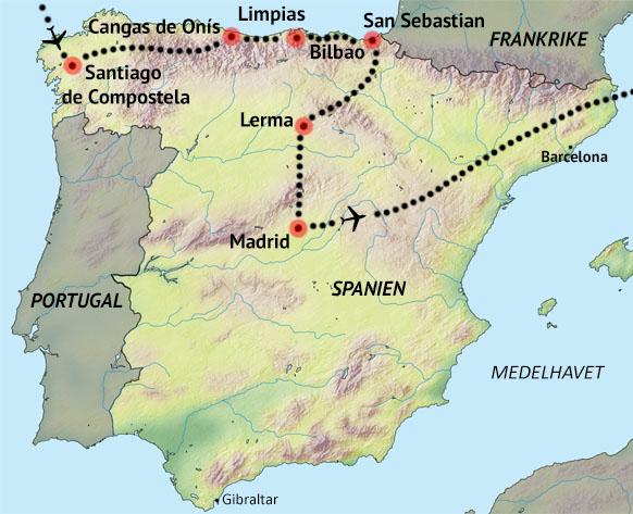 Karta Pa Spansk.Spanien En Fard Genom Historien