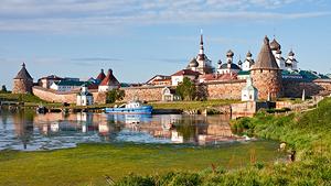 Vita havet med Solovetskijöarna